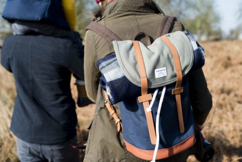 'Walk in the Park' lifestyle shoot for Sanqvist Dante Backpack in Richmond Park London. Holly, Wren, Chapters, People, freelance, production, unit, stills, photographer, photography, portrait, crew, commercials, promos,